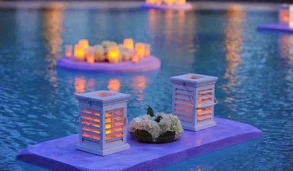 Inicia un negocio de decoracion de velas flotantes en for Velas flotantes piscina